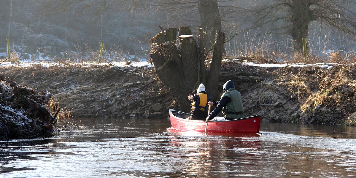 Winter paddle most beautifull river