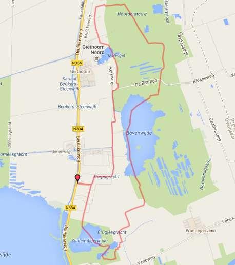 kanoroute kaart Giethoorn - Wieden