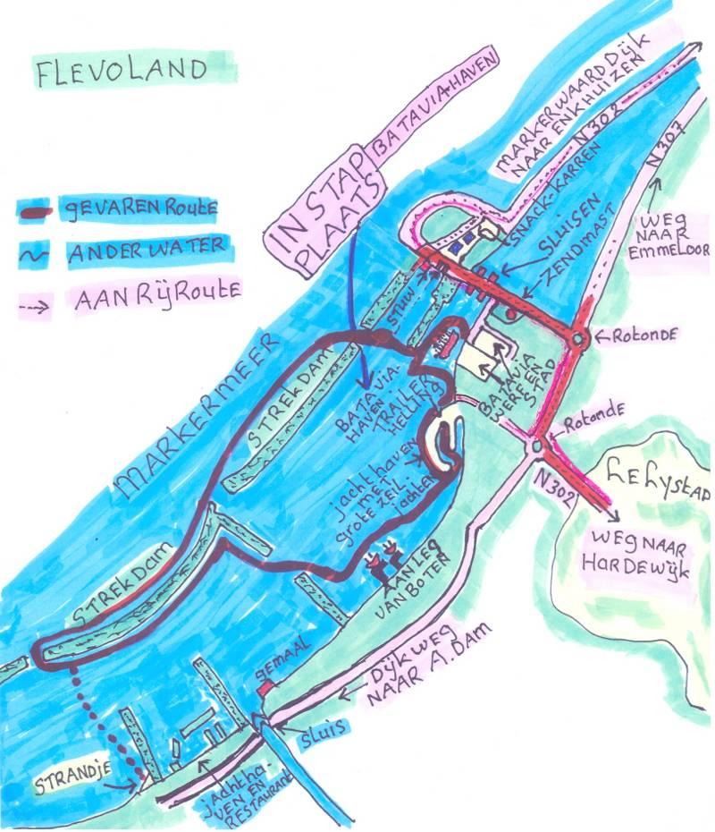 Kanoroute Strekdam Lelystad Flevoland
